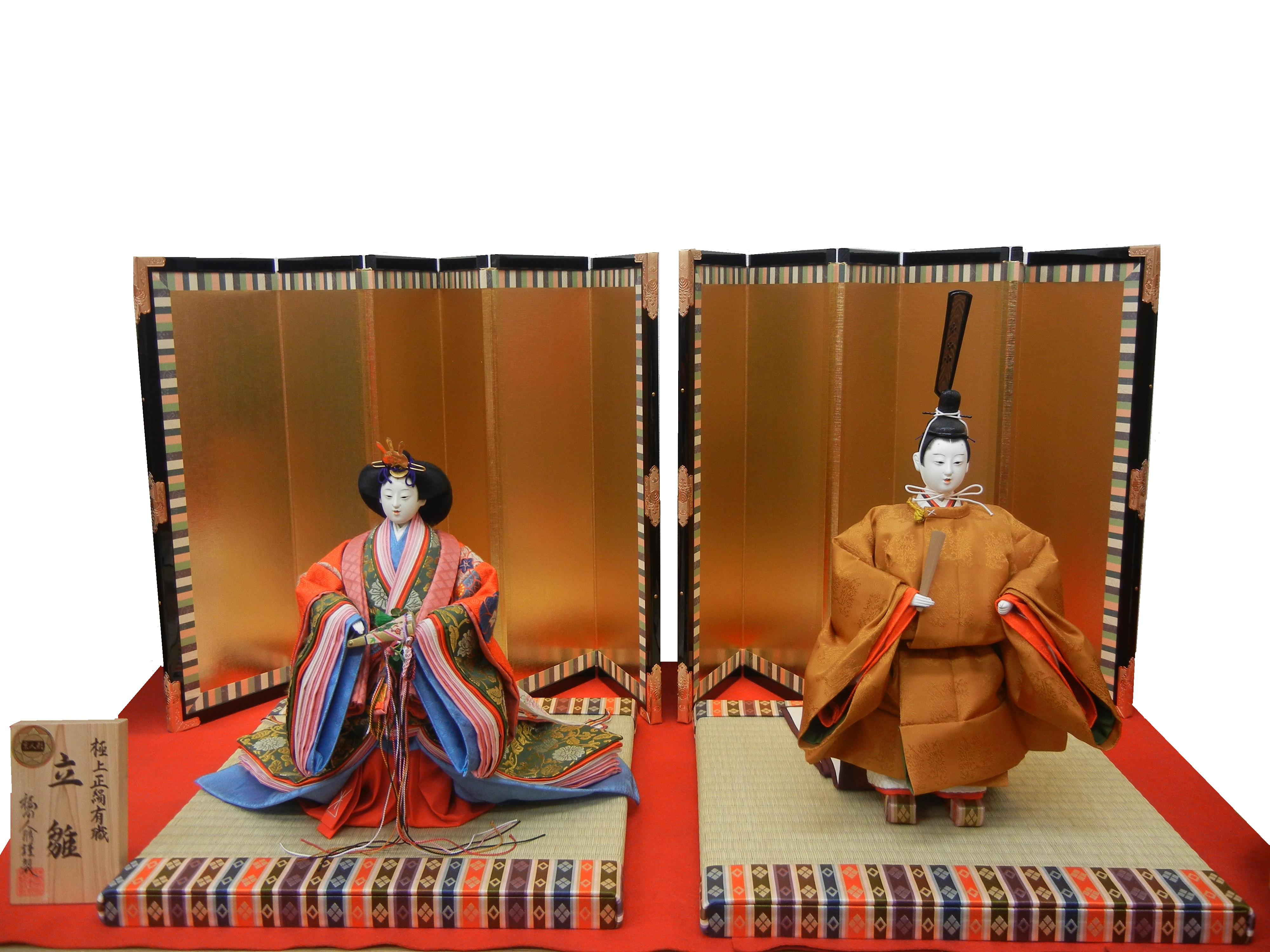 京製 井上雅風作 八番 有職立雛飾