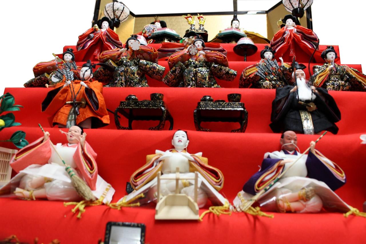雛人形五段飾り|お雛様/お内裏様/三人官女/五人囃子