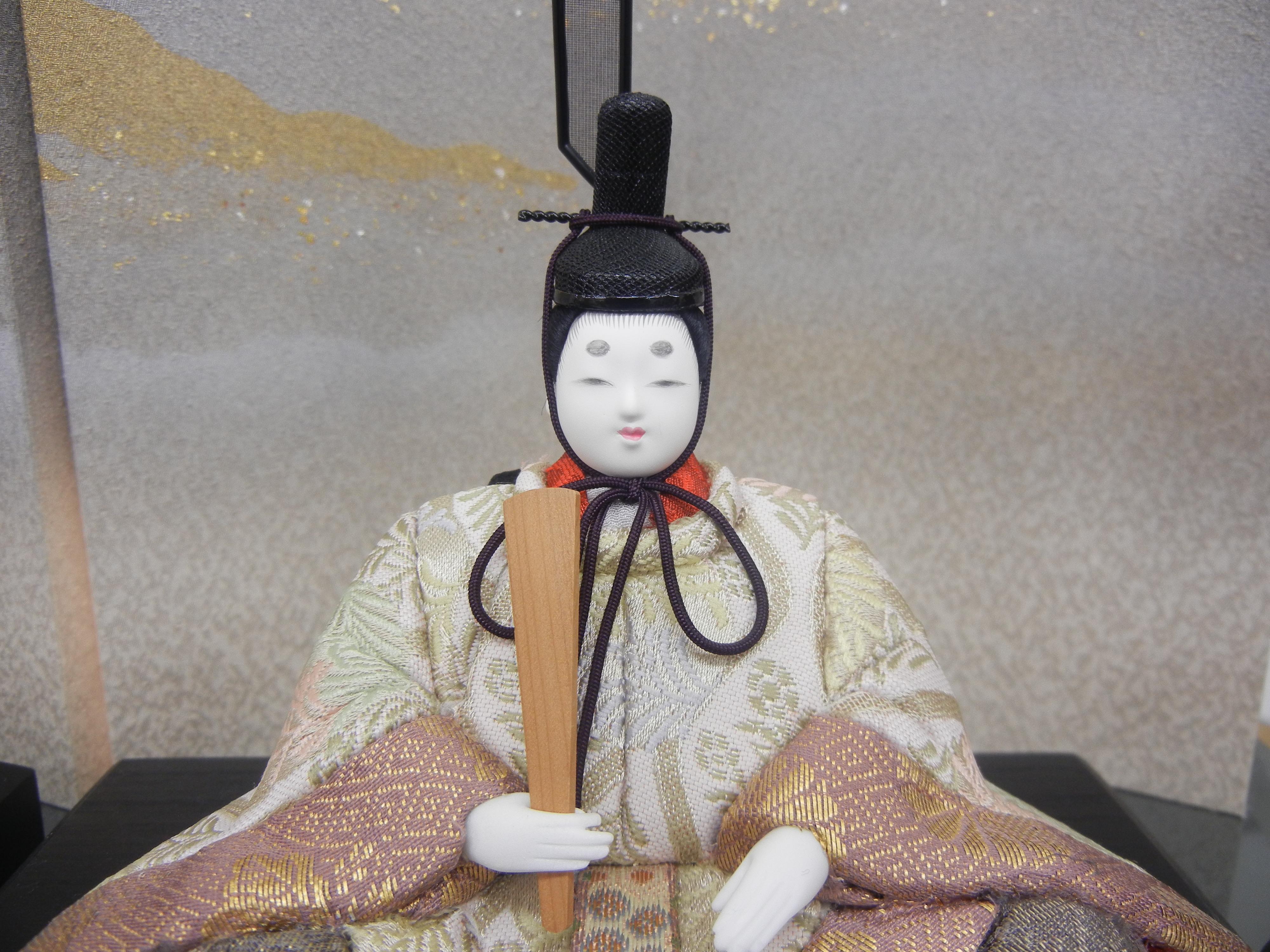福田人形店謹製|親王台 木目込